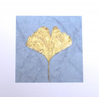 NEW ! BOTANIC GOLD  card range : RLG 3  Gingko gold/ grey