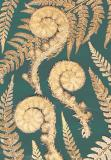 Botanic Gold  NEW !  card range : BG18 FERN FRONDS GREEN