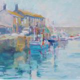 Landscapes card range : LD45 Boats, Lyme Harbour