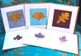 HAND MADE REAL LEAF card range : Real Leaf greeting cards